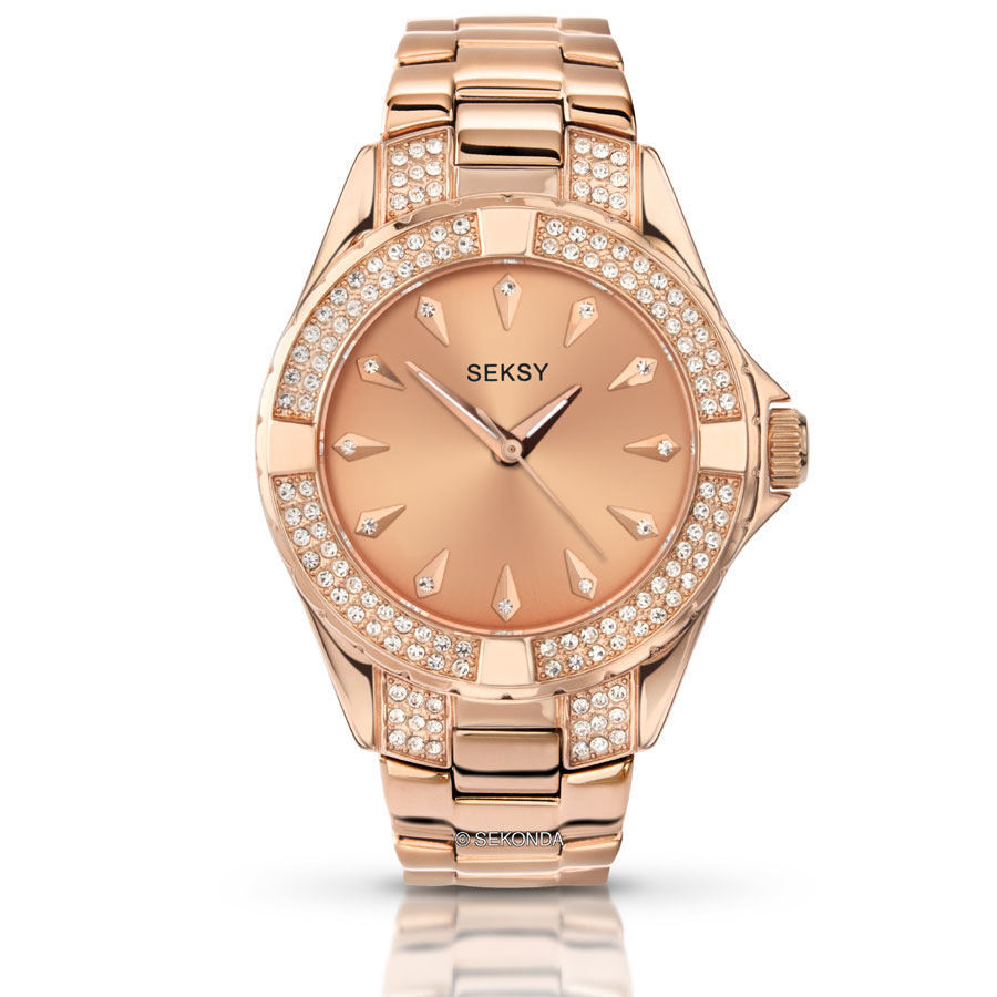 d76eeed0ace Seksy by Sekonda Intense Ladies Rose Stone Set Watch - 4669.37