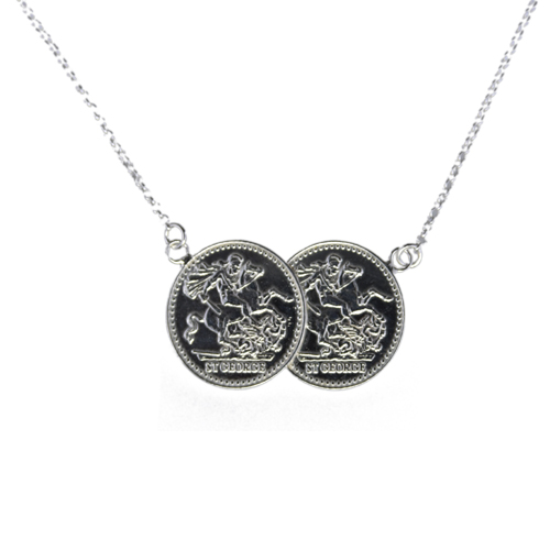 09c065b6a4ce4 Sterling Silver Two Coin Full Sovereign Necklace