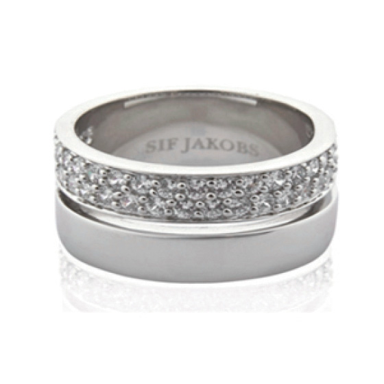 72334cd26 Sif Jakobs Empoli Due Ring - SJ-R10142-CZ