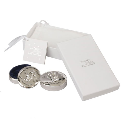Juliana Silver Plated Tooth and Curl Box