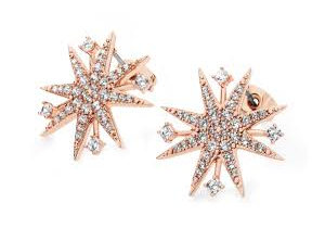 Tipperary Rose Gold Plated Star Bright Earrings​