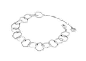 Tipperary Silver Plated Honeycomb Chain Bracelet​