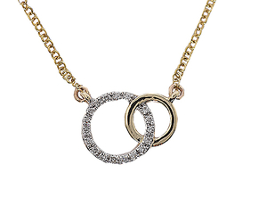 9 carat gold diamond set necklet