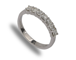 18 carat white gold  7 diamond eternity ring