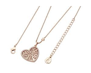 ​Tipperary Rose Gold Plated Pave Set Heart Pendant