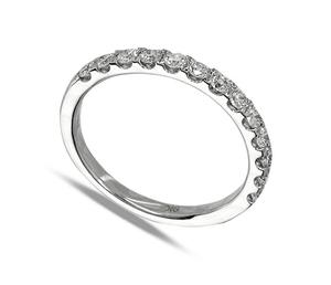 9 Carat White Gold Thirteen Diamond Ring