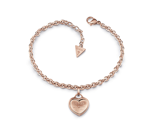 Guess rose gold plated heart bracelet