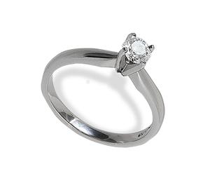 Platinum set diamond solitaire ring