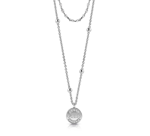 Guess rhodium plated necklet