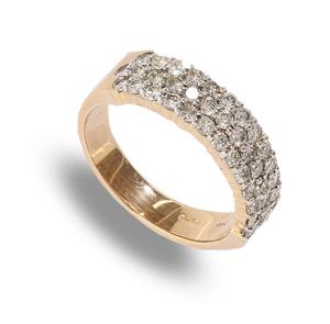 9 carat gold diamond band ring