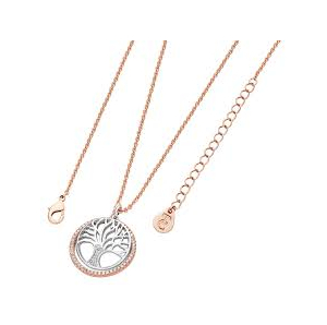 Tipperary Tree of Life Rose Gold Circle Necklace