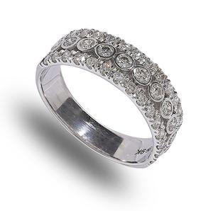 9 carat white gold diamond band ring