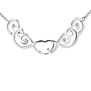 Newbridge Silverware Sweet Heart Necklace (N503)