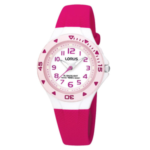 Lorus Children's Polyurethane Purple Strap Watch (R2339DX9)