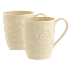 Belleek Living Celtic Mug Pair - Set of 2