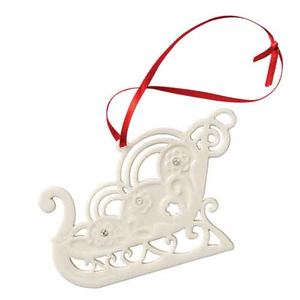 Belleek Living Christmas Sleigh Ornament Decoration (7524)