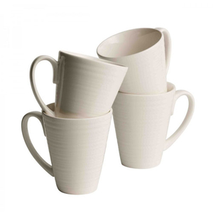 Belleek Living Ripple Set Of 4 Mugs (7982)