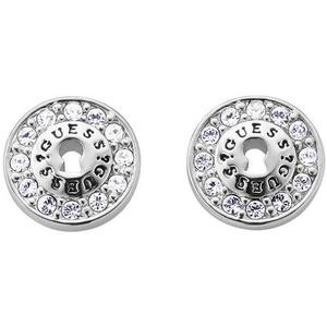 GUESS Ladies 'All Locked Up' Stainless Steel Stud Earrings (UBE71206)
