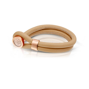 Mi Moneda Tan Cambio Leather Bracelet