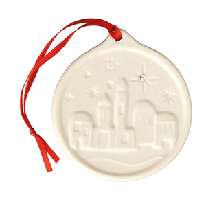 Belleek Living Little Town Of Bethlehem Hanging Decoration (7619)