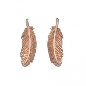 Hot Diamonds Rose Gold Plated Feather Stud Earrings - DE368