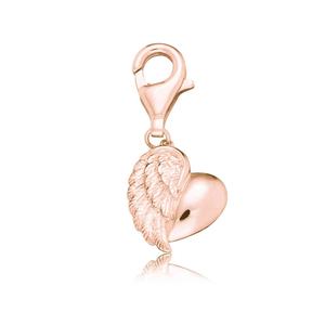 Engelsrufer Rose Gold Plated Heart Wing Charm (ERC-HEARTWING-R)