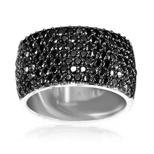 Sif Jakobs Black Zirconia Bari Ring -  SJ-R10439-BK