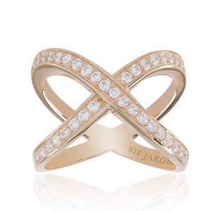 Sif Jakobs Exilles Rose Gold Plated Ring - SJ-R10989-CZ
