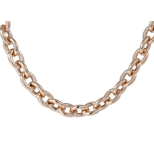 "Bronzallure Rose Gold Plated 20"" Link Necklace WSBZ00409.R"