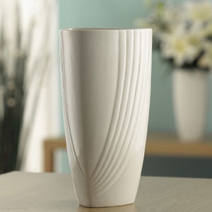 "Belleek Living Chic 9""Triangular Vase - 7462"