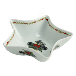 Aynsley Mistletoe and Holly Star Dish (XMAS30362)
