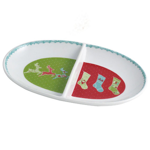 Aynsley Let It Snow Divided Dish (XMAS30616)