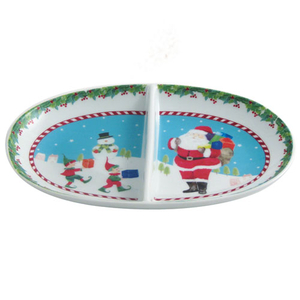 Aynsley Santa & Elves Divided Dish (XMAS30623)