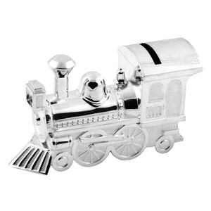 Bambino by Juliana Silver Plated Large Train Money Box (6289)
