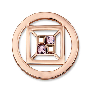 Mi Moneda Small Cubo Rose Gold Crystal Coin (SW-CUB-03-S)