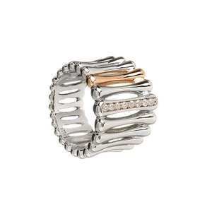 House of Lor Silver CZ Bar Ring (H20006)