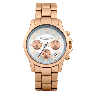 Daisy Dixon Ladies Cara Rose Gold 38mm Bracelet Watch (DD001URGM)