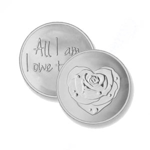 Mi Moneda Large Silver Plated 'Owe To You Coin' (MON-ROS-01-L)