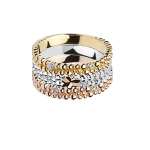 House of Lor Three Part CZ Stacking Ring (H20002)