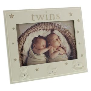 Bambino by Juliana 5x3.5 Twins Photo Frame (CG1129)