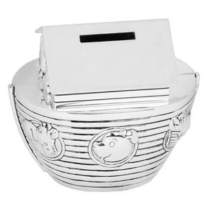 Bambino by Juliana Silver Plated Noah's Ark Money Box (WY5086)