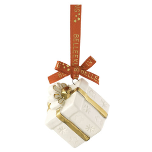 Belleek Living Mini Gift Box Ornament (7473)