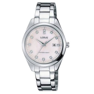 Lorus Ladies Mother of Pearl Stainless Steel Bracelet Watch (RJ247BX9)