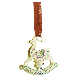 Belleek Living Golden Reindeer Ornament (8570)