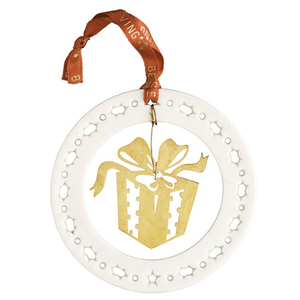 Belleek Living Gold Gift Box Ornament (7397)