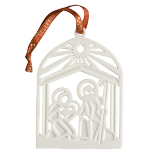 Belleek Living Nativity Flat Ornament (7372)