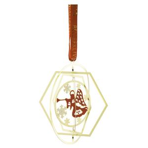 Belleek Living Golden Angel Ornament (8571)
