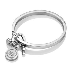 Newbridge Silverware Ti Amo Rhodium Plated 'Be Irresistible' Bangle (EOJ110SR)