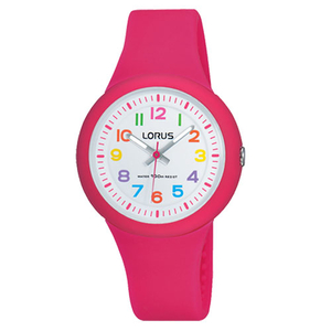 Lorus Children's Silicone Pink Strap Watch (RRX49EX9)