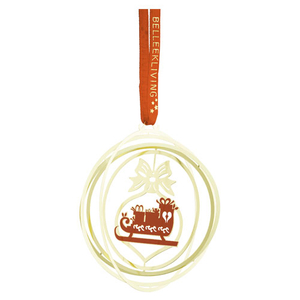 Belleek Living Golden Sleigh Ornament (8572)